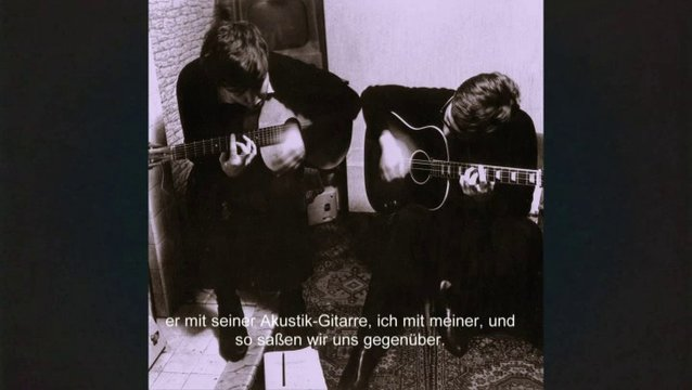 Paul and John writing on the road (OmU) - Szene Poster