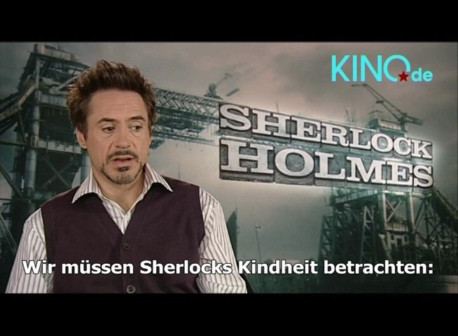 Robert Downey Jr. über Sherlock Homes - Interview Poster
