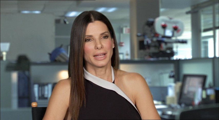 Sandra Bullock -Ashburn - über Improvisation - OV-Interview Poster