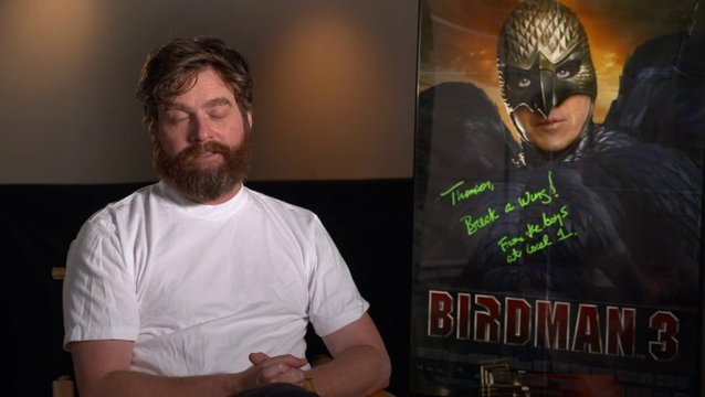 Zach Galifianakis  - Jake - über die Geschichte in Birdman - OV-Interview Poster