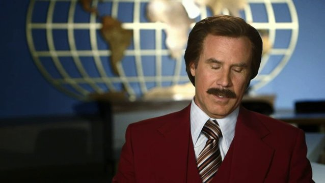 Will Ferrell - Ron Burgundy - über das News-Team - OV-Interview Poster