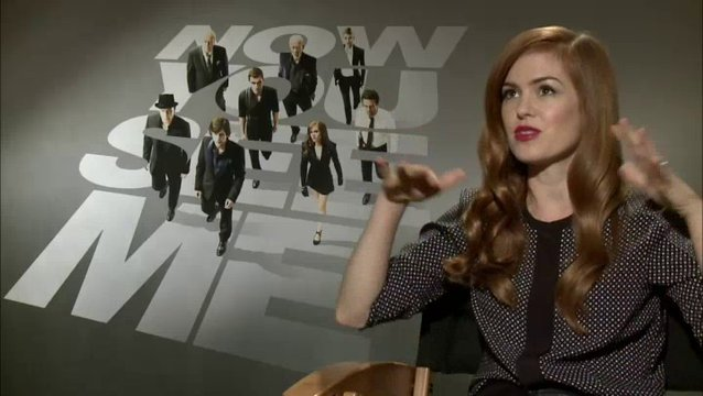 Isla Fisher - Henley Reeves - über die Motive der The Four Horsemen - OV-Interview Poster