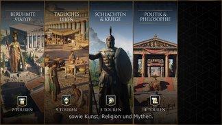 Eine Reiseführer mit Leonidas & Herodotus