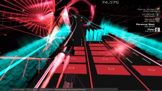 Audiosurf Gameplay - Dark Days in the Sun - Barricade