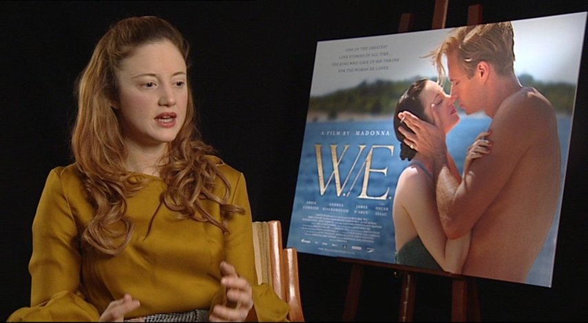 Andrea Riseborough -Wallis Simpson- über den Look des Films - OV-Interview Poster