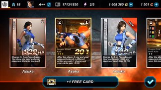 Tekken Card Tournament - Android IOS - Get Ready for Asuka! (Update 3.4)