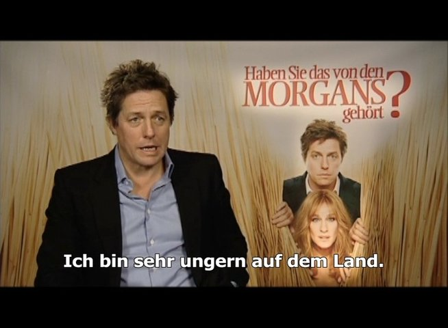 Hugh Grant über den Film - Interview Poster