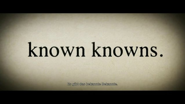 The Unknown Known - Szene Poster
