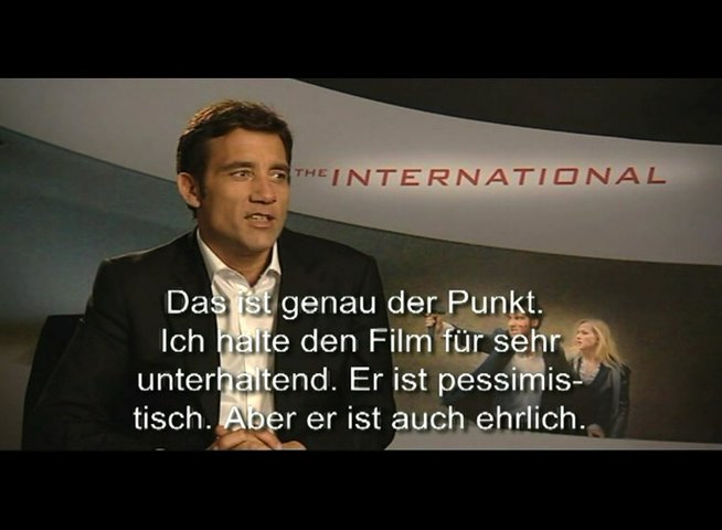 Clive Owen über THE INTERNATIONAL - Interview Poster