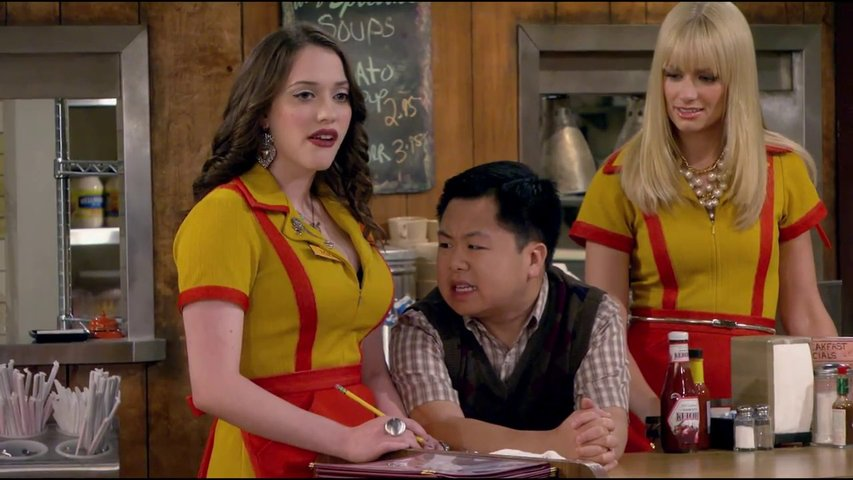 2 Broke Girls - Staffel 2 (VoD-DVD-Trailer) Poster