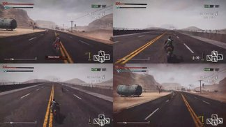 Road Redemption: Splitscreen Gameplay