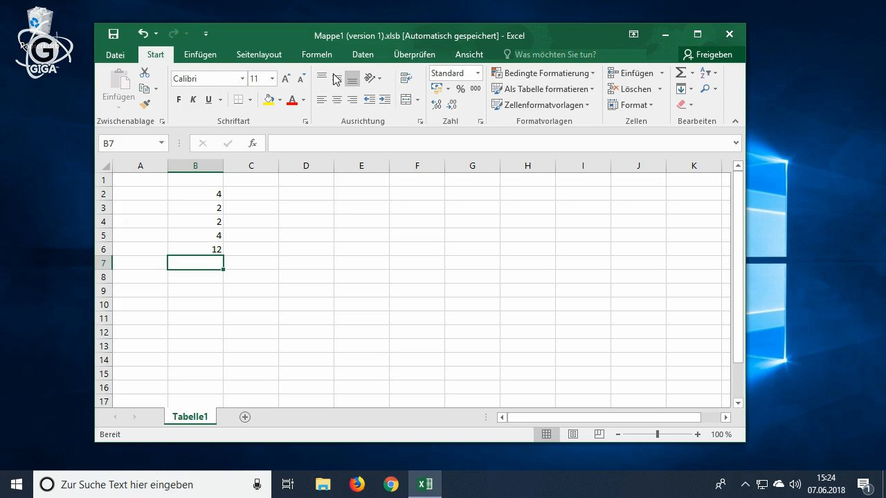 So könnt ihr in Excel subtrahieren und addieren Video Tutorial