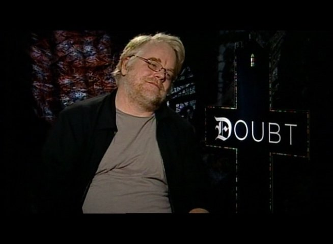 Interview mit Philip Seymour Hoffman (Father Flynn) - OV-Interview Poster